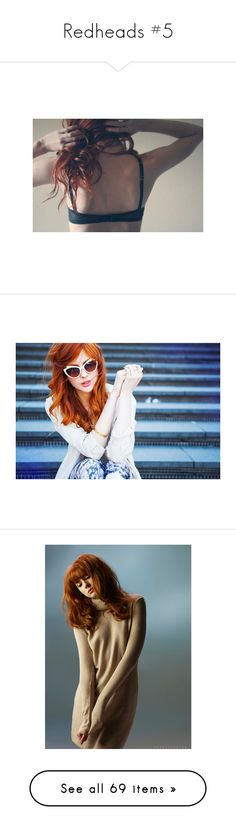 """""""Redheads #5"""" by keeperoftheart ❤ liked on Polyvore featuring pictures, backgrounds, people, photos, images, detail, embellishment, pics, tops and cardigans"""