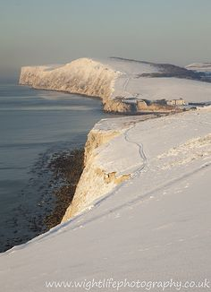 Freshwater Bay Downs covered with snow, unusual sight.