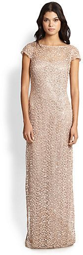Kay Unger Lace & Sequin Gown on shopstyle.co.uk