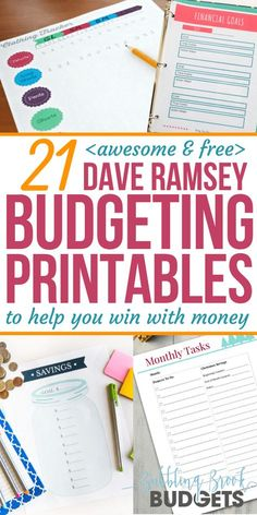 21 Awesome & Free Dave Ramsey Budgeting Printables That'll Help You Win With Mon. - Finance tips, saving money, budgeting planner Budgeting Finances, Budgeting Tips, Budgeting System, Monthly Expenses, Monthly Planner, Faire Son Budget, Money Makeover, Budget Binder, Budget Book