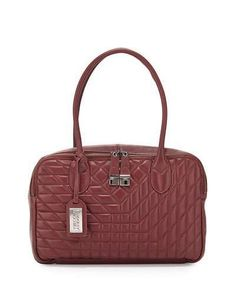 Shop Coralie Leather Satchel Bag, Burgundy from Badgley Mischka at Neiman Marcus Last Call, where you'll save as much as on designer fashions. Leather Satchel, Satchel Bag, Napa Leather, Last Call, Badgley Mischka, Clearance Sale, Neiman Marcus, Burgundy, Bags
