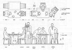 restaurant seating dimensions