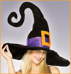 Witch Costume Hats Crazy Black Witch Hat