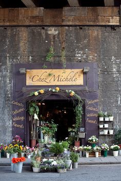 Chez Michele~  A delightful and charming decorative florists in the heart of Borough Market, London