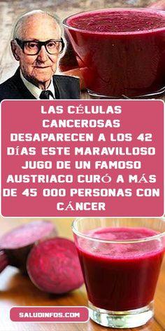 LAS CÉLULAS CANCEROSAS DESAPARECEN A LOS 42 DÍAS: ESTE MARAVILLOSO JUGO DE UN FAMOSO AUSTRIACO CURÓ A MÁS DE 45, 000 PERSONAS CON CÁNCER Herbal Cure, Herbal Remedies, Health Remedies, Quit Drinking Alcohol, Diarrhea Remedies, Health Benefits Of Ginger, Healthy Eating Guidelines, Salud Natural, Health Care