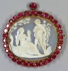 Dionysus and Ariadne | onyx, gold and Burmese rubies, Italy 16th-17th c.