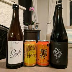 Beer mail!  Grisette and Pulling Nails Blend 6 from @sideprojectbrew plus cans from @tornlabelkc!