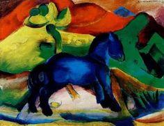 Blaues Pferdchen - Marc Affiches d'Art - Easyart.fr