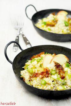 Rezept für Reispfanne nach Risotto-Art.