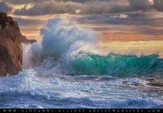 Rough sea 9 seascape with huge wave. Prints available at http://giovanni-allievi.artistwebsites.com/art/all/seascapes/all