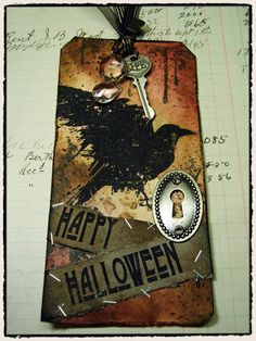 halloween, tags, tim holtz