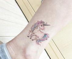 Unicorn Fantasy Tattoo  - http://tattootodesign.com/unicorn-fantasy-tattoo/  |  #Tattoo, #Tattooed, #Tattoos