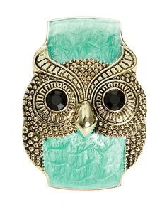 Turquoise Marble Owl Cuff - Teen Clothing by Wet Seal
