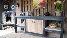 Buitenkeuken metaal / terrazzo - Keuken voor buiten