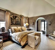 that artwork over the bed with that bedding is amazing