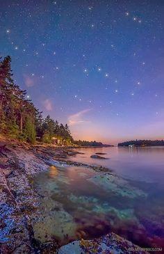 Starry, Starry Night at Galiano Island, British Columbia, Canada - Amazing Snaps