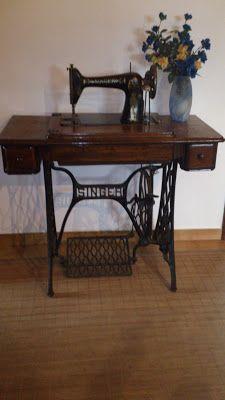 Maquina de coser de pié Singer 1917