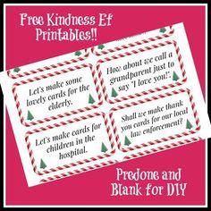 Free Kindness Elves Printables