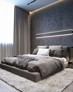 Black Bedroom Design, Bedroom Closet Design, Room Ideas Bedroom, Home Room Design, Loft Interior, Master Bedroom Interior, Modern Master Bedroom, Modern Interior, Modern Luxury Bedroom