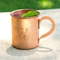 The #rustic mixologist in your life will appreciate this Personalized Moscow Mule Copper Mug! One of our new bestselling #groomsmen gift ideas #wedding