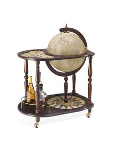 Globe Drinks Cabinet Antiqua Serving Tray
