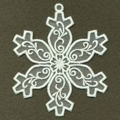 Organza Decorative Snowflake 6 - 4x4 | What's New | Machine Embroidery Designs | SWAKembroidery.com Ace Points Embroidery