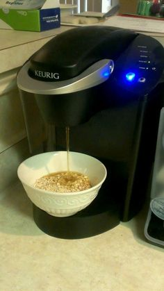 Make instant oatmeal with your Keurig. | 12 Surprising Things You Can Make With A Coffee Pot