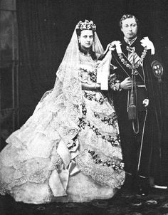 Their Royal Highnesses The Prince and Princess of Wales. Married: March 10, 1863