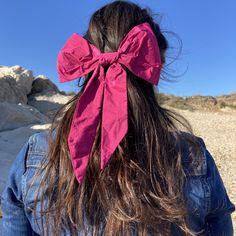 Chubby Bow Hair Clip - pink