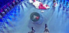 20 Minuten - Fallschirmsprung mitten in Basel-Tattoo-Arena