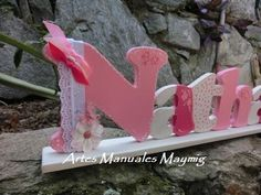 MayMig Artes Manuales: Nombre en madera para decorar. Bookends, Country, Home Decor, Wooden Letters, Hand Art, Kids Rooms, Decoration Home, Rural Area, Room Decor