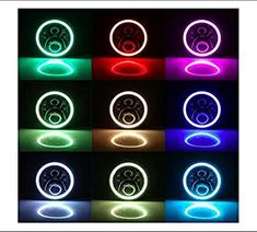 Cloudsale 7 inch led rgb round drl flashing angel eye halo ring headlamp bluetooth controlled for jeep wrangler: Amazon.in: Car & Motorbike Royal Enfield Accessories, High Beam, Angel Eyes, Led Headlights, Jeep Wrangler, Halo, Bluetooth, Amazon, Ring