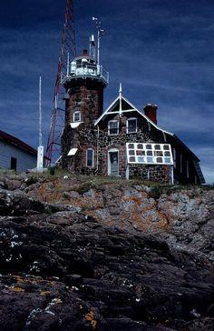 Passage Island Lighthouse. Michigan, 3.2 miles NE of Isle Royale in NW Lake Superior on Passage Island.  Opened 1882