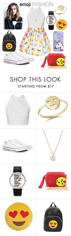 """""""Emoji"""" by deanna-rice ❤ liked on Polyvore featuring Bing Bang, Converse, Geneva, Olivia Miller, Throwboy and Forever 21"""