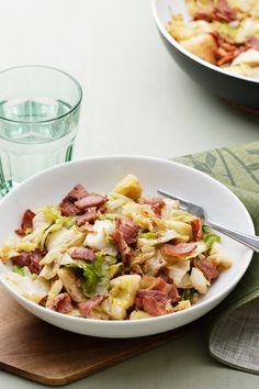 Bacon- och vitkålspytt