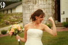 Kira was SO excited to get married she was bouncing up and down all day!!  Thanks to Schroder photography ranking the Barn at Perona Farms at #1 on their list of Top 10 Wedding Venues!  #PeronaFarms #barnwedding #bride #weddingday  http://www.schroderphotography.com/html/archives/2084