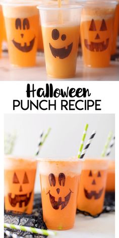 Halloween Punch Halloween Punch: a delicious halloween punch recipe for kids to enjoy! These do it yourself Jack-O-Lantern cups are perfect for holding this party punch! Punch Halloween, Bonbon Halloween, Halloween Party Snacks, Halloween Dinner, Halloween Celebration, Diy Halloween Decorations, Halloween Kids, Halloween Costumes, Couple Halloween