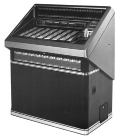 1985, Rowe-AMI's Model R-89: Seen here without the optional Video\MEC. [Jukebox Collector]