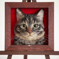 felted wool animals japanese artist creates incredibly realistic cats heads using needle felted wool Needle Felted Cat, Needle Felting Kits, Needle Felted Animals, Felt Animals, Felted Wool, Felt Dogs, Felt Cat, Wet Felting, Wool Art