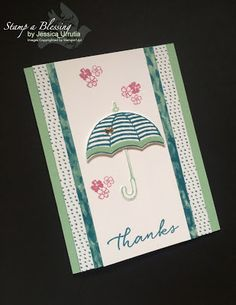 Make it Simple Monday (part 2) Follow my tips for simple stamping Card sketch Umbrella Weather, Weather Together, Stampin'Up!