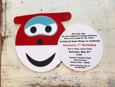 Super Wings Jett Invitations Set of 10 by whimzycreations on Etsy