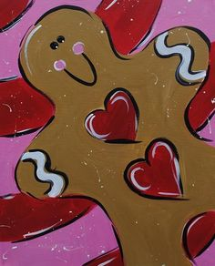 Gingerbread painting. Perfect for Christmas.