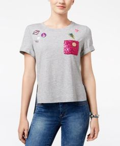 e4dd371fd DreamWorks Trolls Juniors' Poppy Sequin-Pocket Graphic T-Shirt & Reviews -  Tops - Juniors - Macy's