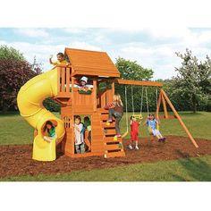 Buy Cedar Summit Grandview Deluxe Cedar Wooden Swing Set at Walmart.com
