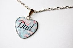 Dad On Retro Floral Fantasy  Handmade by Blingstopaythebills, €10.00