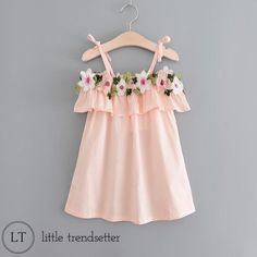 "333 Likes, 18 Comments - www.littletrendsetter.com (@littletrendsetter) on Instagram: ""Major Restock just occurred on this precious little dress! The stitched on crocheted flowers put it…"""
