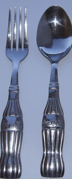 Coca Cola coke gibson stainless steel cutlery set