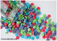 Easy and cheap tutorial for making HOMEMADE CONFETTI SPRINKLES in any color you like!