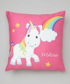 Look at this #zulilyfind! Rainbow Unicorn Personalized Pillow by Spark & Spark #zulilyfinds
