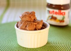 Nutella Ice Cream – everyone's favorite chocolate hazelnut spread made into ice cream without using eggs